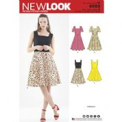 6553 New Look Pattern: Misses' Skater Dress